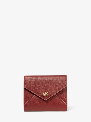 MICHAEL Michael Kors Medium Two-Tone Pebbled Leather Envelope Wallet