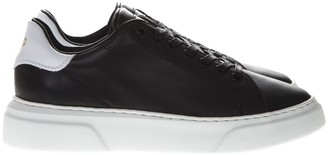 Philippe Model Oversized Sole Black Leather Sneakers