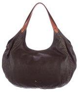 Henry Cuir Bicolor Leather Shoulder Bag