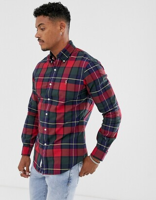 Polo Ralph Lauren slim fit shirt in red check with player logo