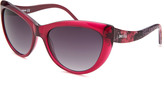 Just Cavalli Women's Cat Eye Translucent Magenta Sunglasses