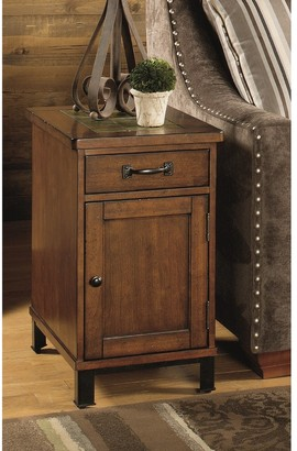 Heartwood Crossing Solid Wood Chairside Cabinet