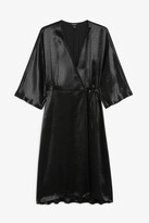 Monki Satin wrap dress