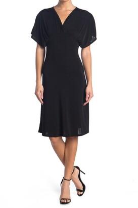 Velvet Torch V-Neck Open Back Dress