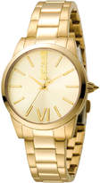 Just Cavalli 32mm Relaxed Velvet Bracelet Watch, Yellow Golden