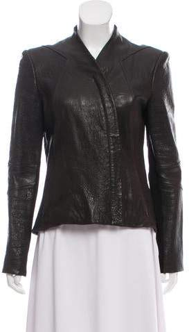 Helmut Lang Leather Collarless Jacket