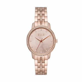Elle Iena Three-Hand Rose Gold-Tone Stainless Steel Watch