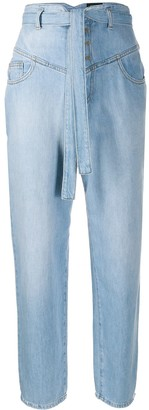 Pinko High Rise Belted Waist Jeans
