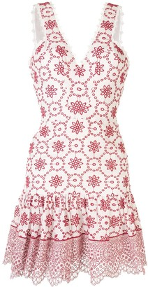 Alexis Villa embroidered mini dress