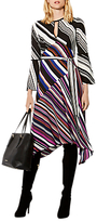 Karen Millen Striped Midi Dress, Multicolour