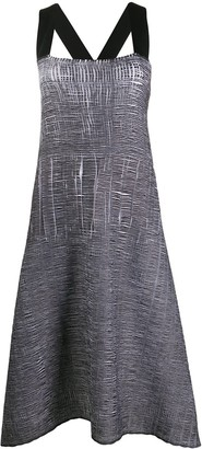 Pierantonio Gaspari Crinkled-Effect Flared Dress