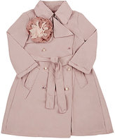 Lanvin FLOWER APPLIQUÉD TECH-TAFFETA TRENCH COAT-PINK SIZE 6