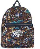 Kenzo Zaino In Tessuto Con Stampa Tigre Multicolor