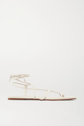 TKEES Jo Suede And Leather Sandals - Cream
