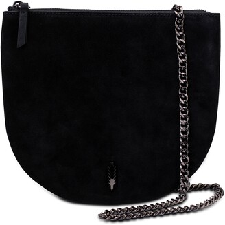 THACKER Vivi Leather Saddle Crossbody Bag