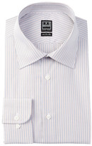 Ike Behar Long Sleeve Classic Fit Striped Dress Shirt