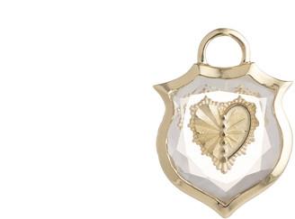 Foundrae Small Crest Gemstone Heart Pendant