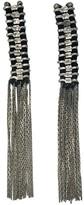 Slate & Salt Temple Silver Tassel Earrings