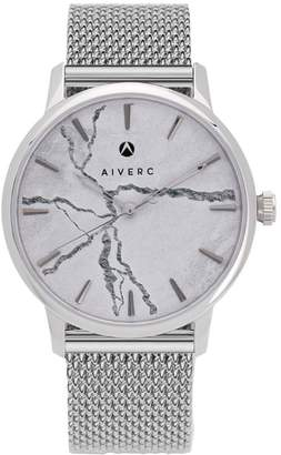 Limited Edition Luxury Analog Watches By Aiverc Faena Silver Mesh With 40Mm Watch Band For Women