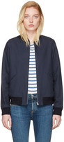 A.P.C. Navy Norma Bomber Jacket