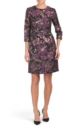Made In Usa Moonrise Metallic Jacquard Dress