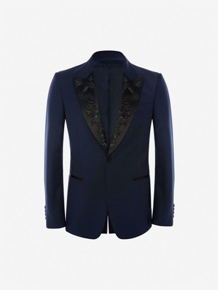 Alexander McQueen Japanese Camellia Tuxedo Jacket