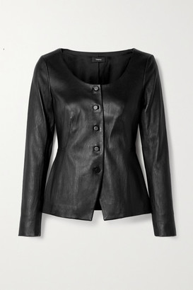 Theory Bristol Leather Jacket - Black