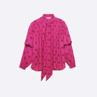 Balenciaga Wfp Double Sleeve Blouse