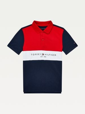Tommy Hilfiger Organic Cotton Colour-Blocked Logo Polo