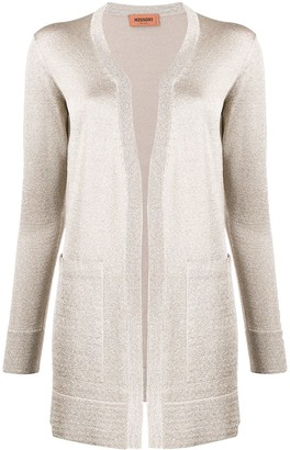 Missoni Long-Line Metallic Knit Cardigan