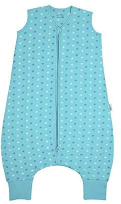 Camilla And Marc Sleeping Bag with Feet All Year Round in 2.5 Tog Teal Stars 18-24 Months 90 cm