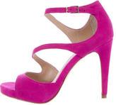 Diane von Furstenberg Suede Multistrap Sandals