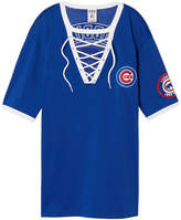 PINK Chicago Cubs Lace-Up Baseball Jersey