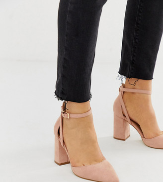 Raid Wide Fit Katy blush heeled shoes