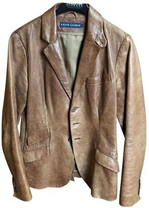 Ralph Lauren Brown Leather Jacket for Women Vintage