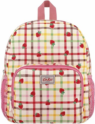 Cath Kidston Medium Strawberry Gingham Backpack Warm Cream