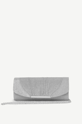 Ardene Pleated Glitter Evening Clutch