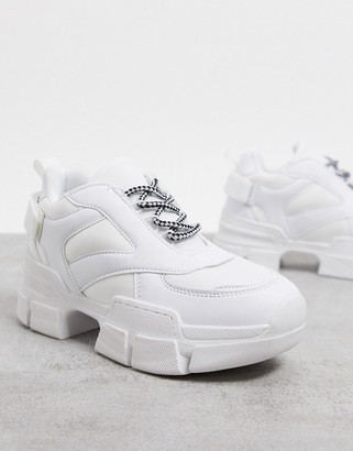 Truffle Collection extreme chunky trainers in white