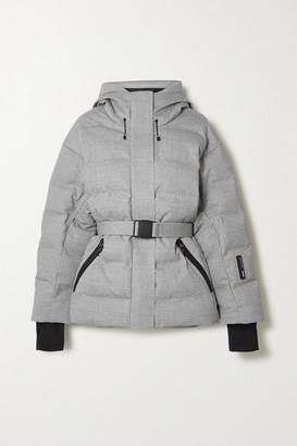 Ienki Ienki Sheena Hooded Belted Quilted Down Ski Jacket - Light gray