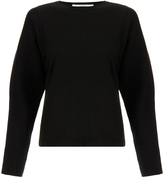 Pringle Black Knitted Merino Wool Sculpted Sleeve Sweater
