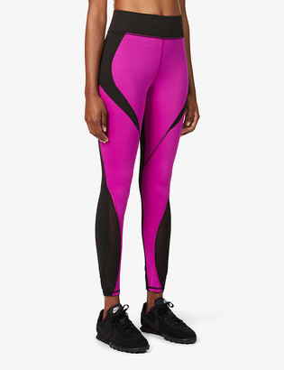 Michi Flare contrast-panel high-rise stretch-jersey leggings