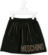 Moschino Kids studded skirt