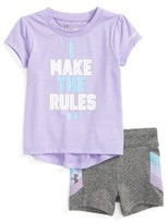 Under Armour Infant Girl's I Make The Rules T-Shirt & Shorts Set