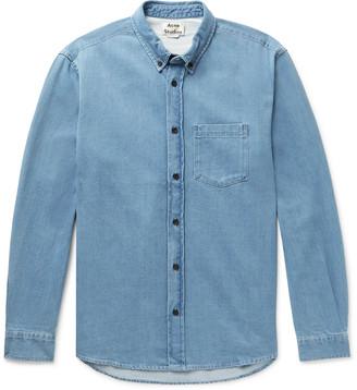 Acne Studios Slim-Fit Button-Down Collar Denim Shirt