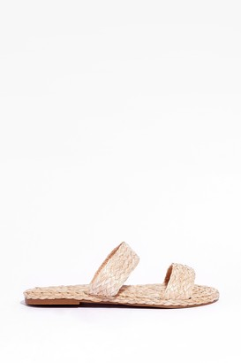 Nasty Gal Womens This is Not a Espadrille Woven Flat Sandals - Natural