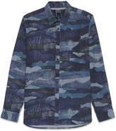 Whistles Camo Print Chambray Shirt