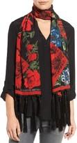 Alexander McQueen Women's Floral Silk Scarf