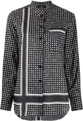 Steffen Schraut Asymmetric Pattern Shirt
