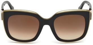 Roberto Cavalli 51 MM Monogram Crest Square Sunglasses