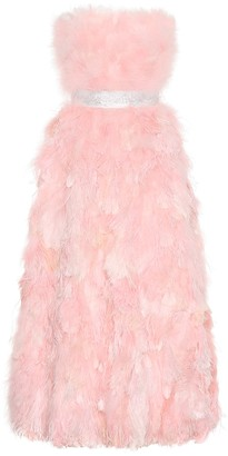 Dolce & Gabbana Feather and silk gown
